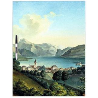 Las montañas de las montañas de la ciudad del lago pizarra blanca