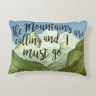 Las montañas están llamando a John Muir almohada