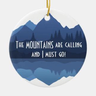 Las montañas están llamando… el ornamento