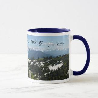 Las montañas están llamando la taza