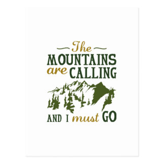 Las montañas están llamando postal