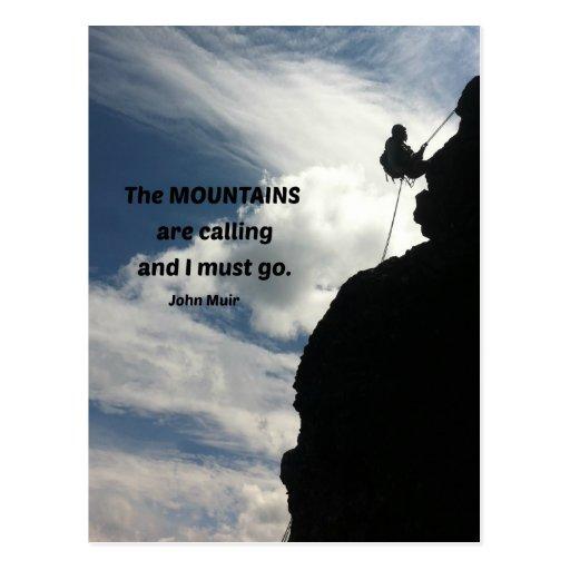 Las montañas están llamando y debo ir postales