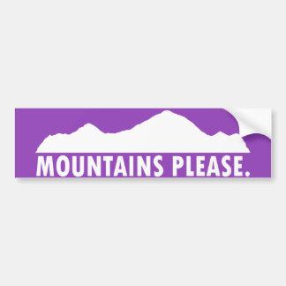 Las montañas satisfacen pegatina para coche