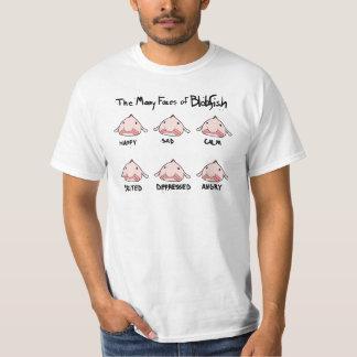 Las muchas caras de Blobfish Camisetas