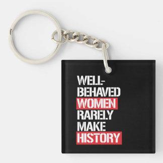 Las mujeres Bien-Comportadas hacen raramente Llavero