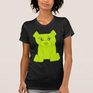 Las mujeres del oso del verde de Fluo destruyeron Camiseta
