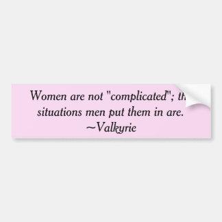 Las mujeres no son pegatina para el parachoques pegatina para coche
