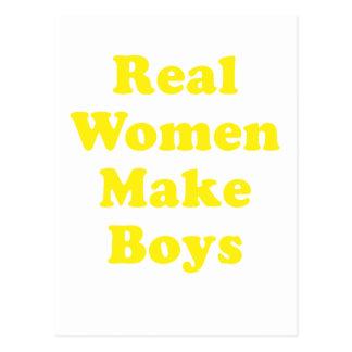 Las mujeres reales hacen a muchachos postal