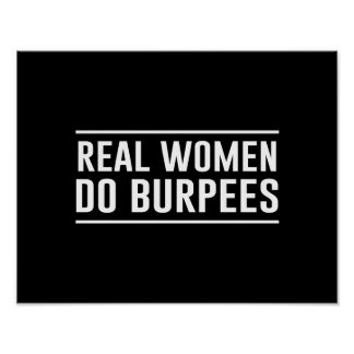 Las mujeres reales hacen Burpees Póster