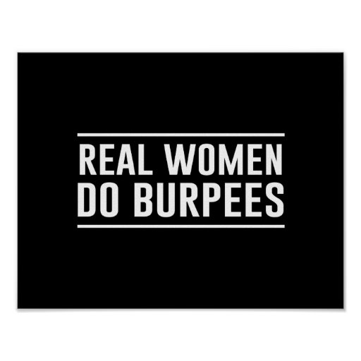 Las mujeres reales hacen Burpees Posters