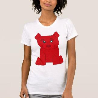 Las mujeres rojas del oso destruyeron la camiseta