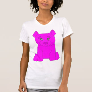Las mujeres rosadas del oso destruyeron la camiseta