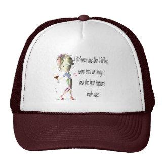 Las mujeres son como el vino, regalos chistosos gorro de camionero