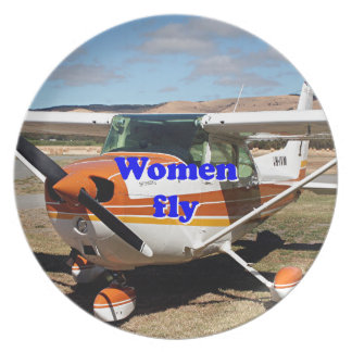 Las mujeres vuelan: aviones de ala alta plato