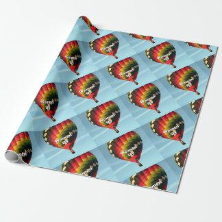 Las mujeres vuelan: globo del aire caliente papel de regalo