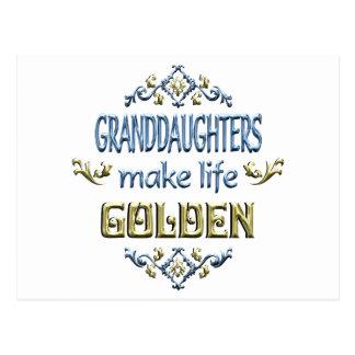 Las nietas hacen vida de oro postal