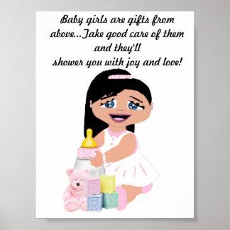 Las niñas son bendiciones póster