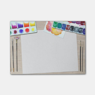 Las notas del post-it del pintor