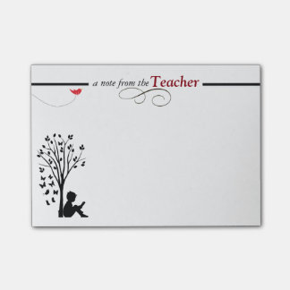 Las notas pegajosas de un profesor