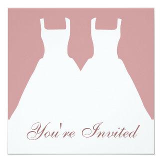 Las novias invitación 13,3 cm x 13,3cm