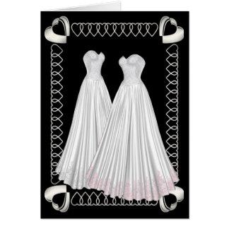 Las novias tarjeta de felicitación