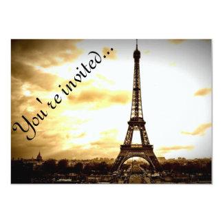 Las nubes sobre la apariencia vintage de París Invitación 11,4 X 15,8 Cm