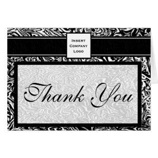 Las ondas contemporáneas en logotipo negro le tarjeta de felicitación