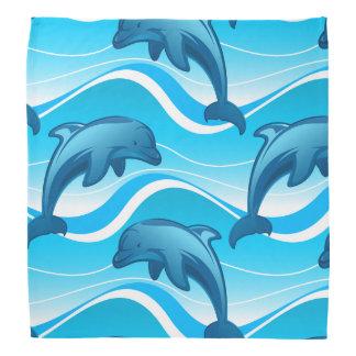 Las ondas de salto del delfín bandana