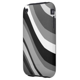 Las ondas modernas retras, curvas se ennegrecen, tough iPhone 3 coberturas