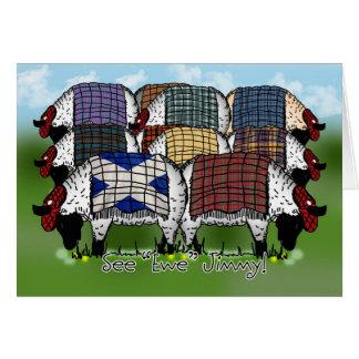 Las ovejas del día de St Andrew - vea la oveja Tarjeta De Felicitación