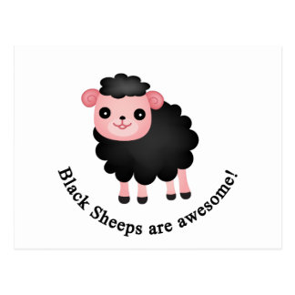 Las ovejas negras son impresionantes postal