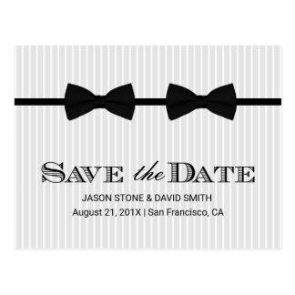 Las pajaritas gay del doble del boda ahorran la postal
