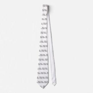 Las palabras dan instrucciones, ventaja de los corbata personalizada