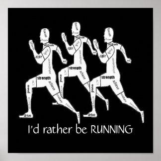 Las palabras de motivación, estaría corriendo bast póster