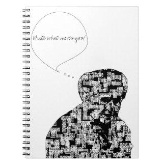 Las palabras hacen que el cuaderno el | del hombre