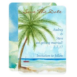 Las palmeras ahorran la tarjeta de fecha