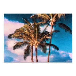 Las palmeras hawaianas retras modificaron las comunicados personales