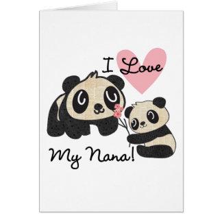 Las pandas I aman a mi Nana Tarjeta