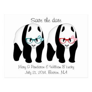 Las pandas que llevan los vidrios ahorran la fecha postal