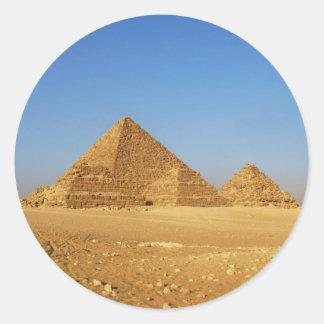 Las pirámides egipcias pegatina redonda