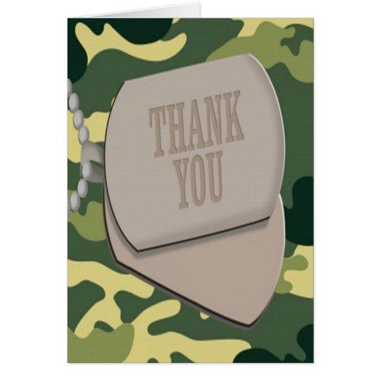 Las placas de identificación Camo del ejército le Tarjeta Pequeña
