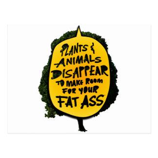 Las PLANTAS y los ANIMALES DESAPARECEN… Postal
