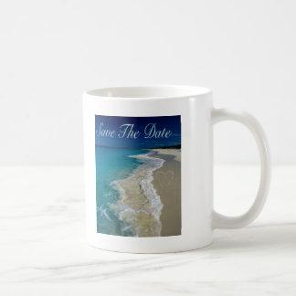 Las playas de Sandy ahorran la fecha Taza De Café