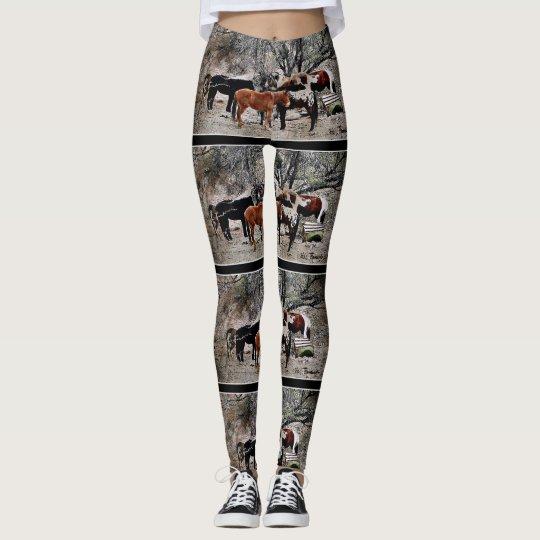 "Las polainas ""caballos de las mujeres de leggings"
