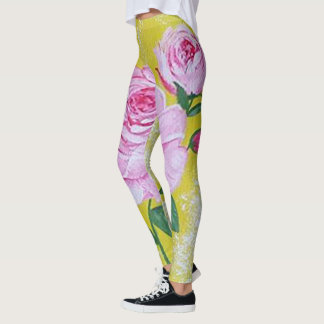Las polainas color de rosa leggings