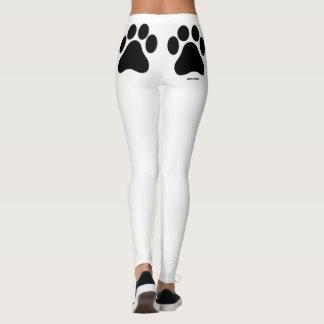 Las polainas de la pata de las mujeres blancos y leggings