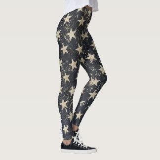 Las polainas frescas con grunge del vintage leggings