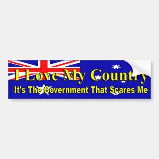 Las políticas australianas aman mi país Govt me Pegatina Para Coche