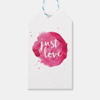 Las porciones de amor marcan etiquetas simples del