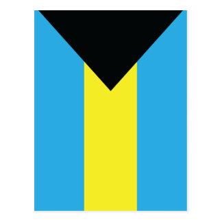 Las postales de la bandera de Bahamas